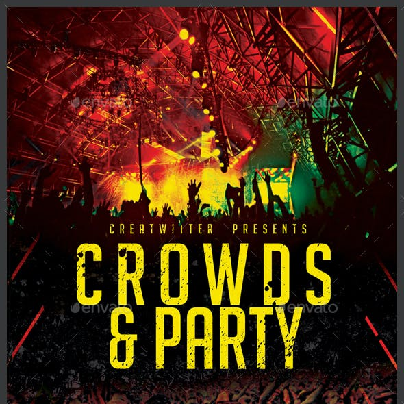 Crowd And Party Flyer