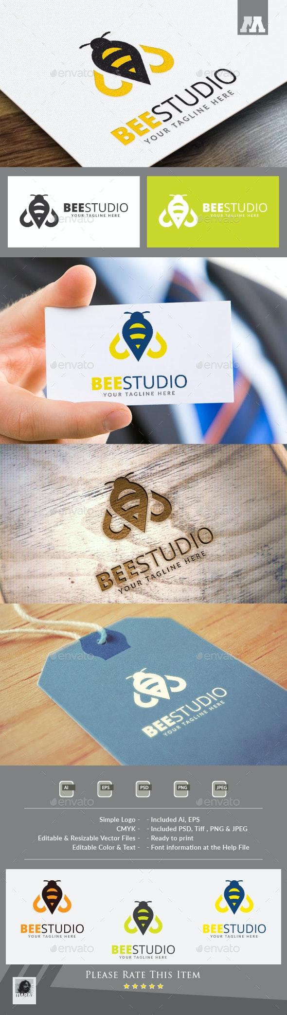 Bee Studio Logo - Symbols Logo Templates