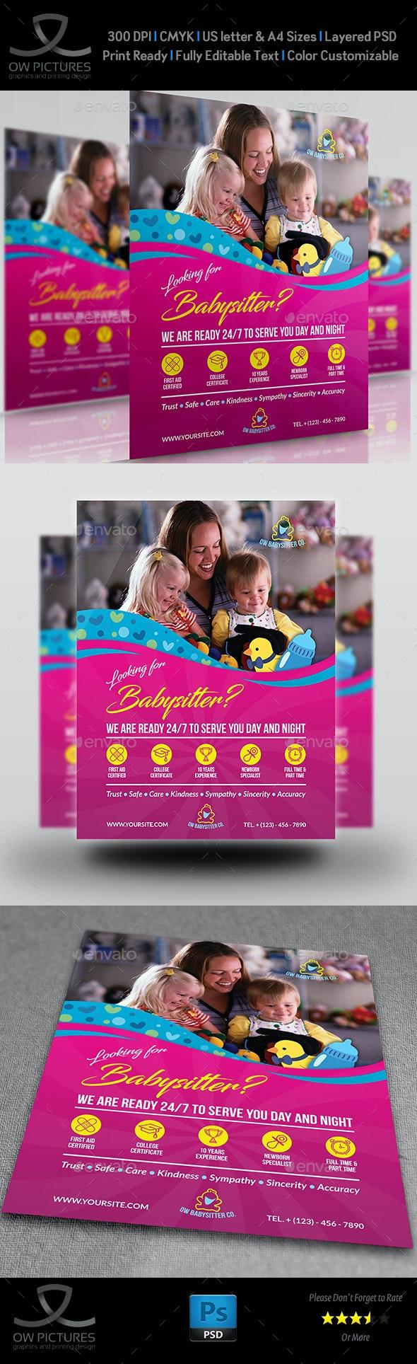 Babysitter Flyer Template - Flyers Print Templates