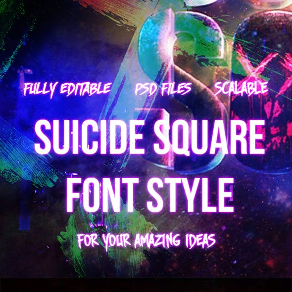 5 Photoshop Text Font Like Suicide Squad Style