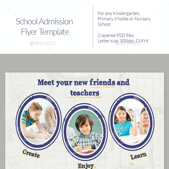 School admission Flyer Templates