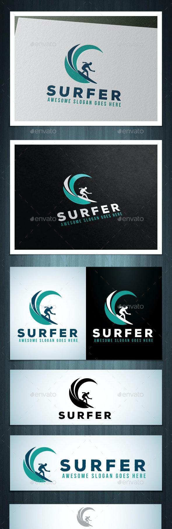 Surfer Logo - Vector Abstract
