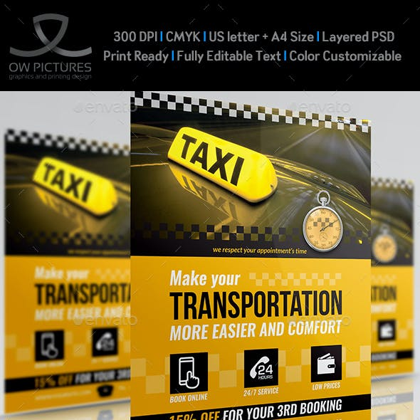 Cab Flyer Templates from GraphicRiver