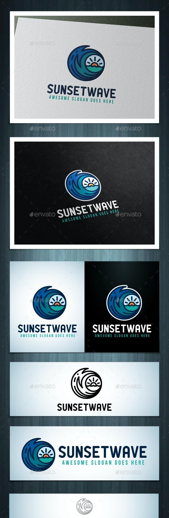 Sunsetwave Logo - Nature Logo Templates