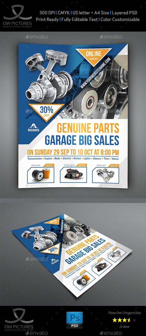 Auto Parts Flyer Template - Commerce Flyers