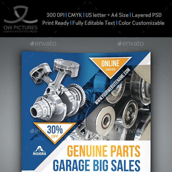 Auto Parts Flyer Template