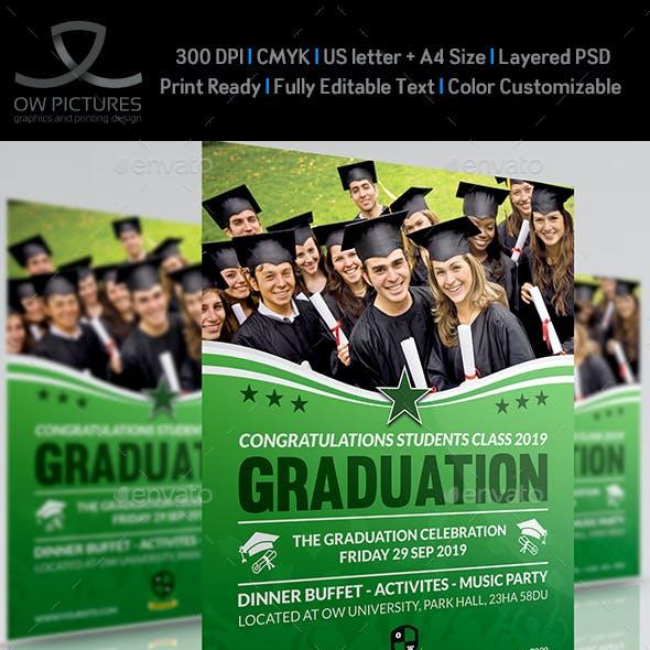 Graduation Flyer Template