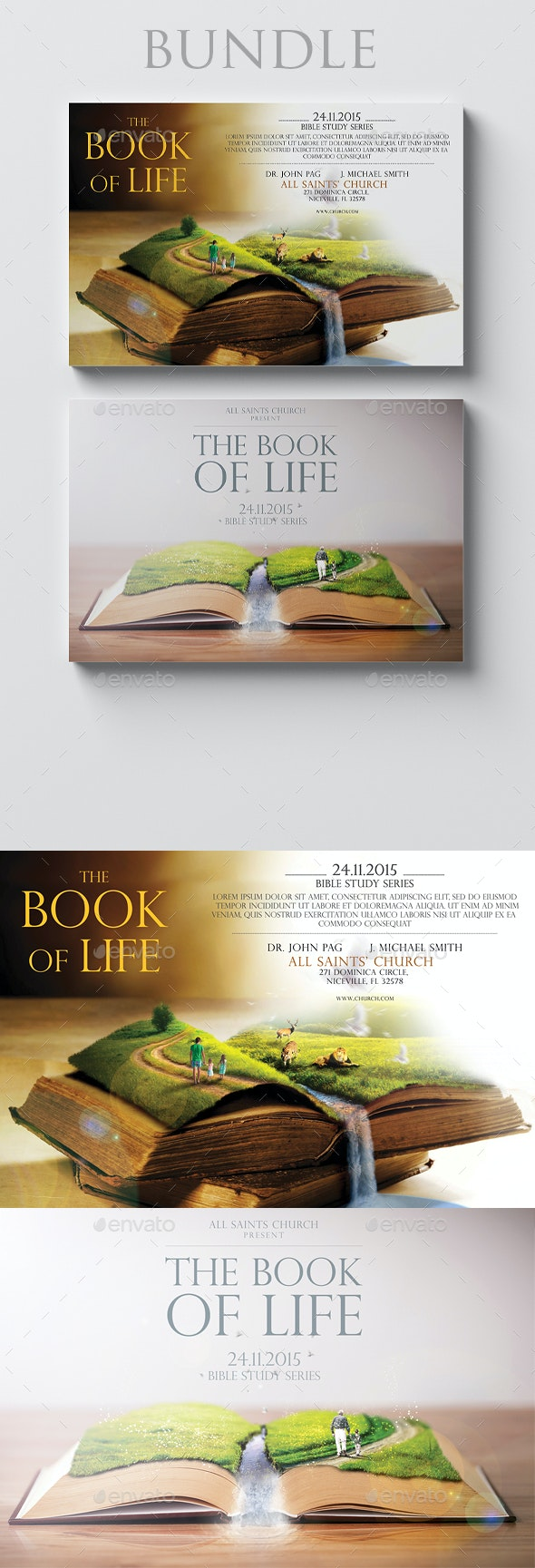 The Book of Life 6x4 Bundle - Church Flyers
