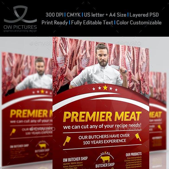 Butcher Shop Flyer Template