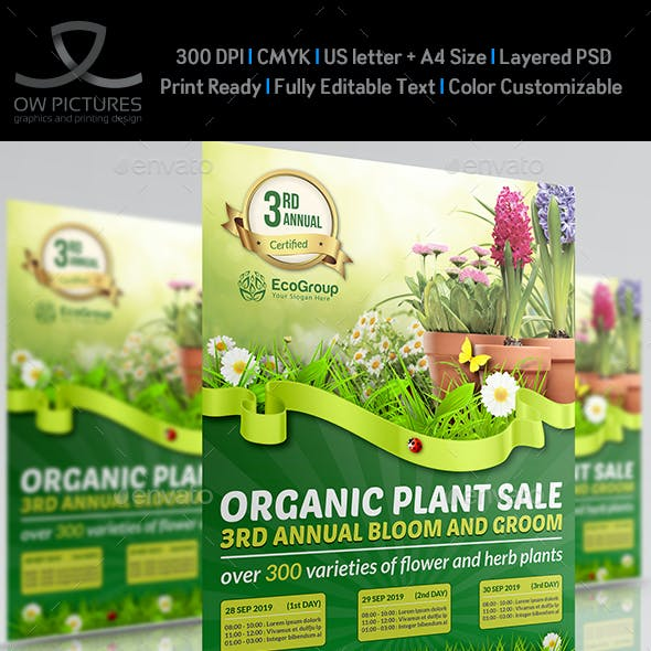 Plant Sale Show Flyer Template