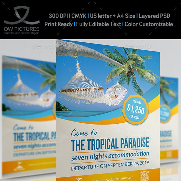 Tour and Travel Flyer Template