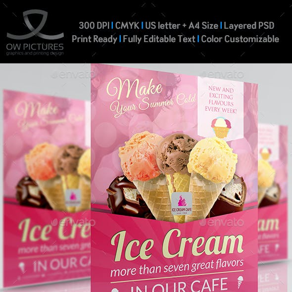 Ice Cream Flyer Template Vol.4