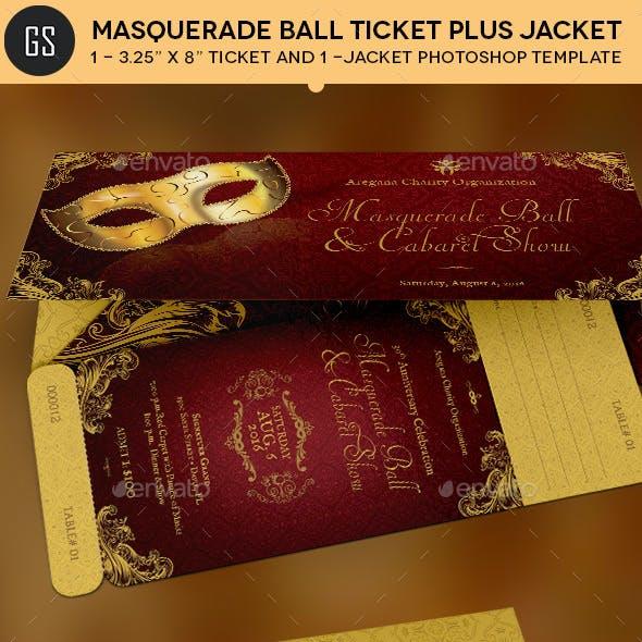 Masquerade Ball Ticket Plus Jacket Template
