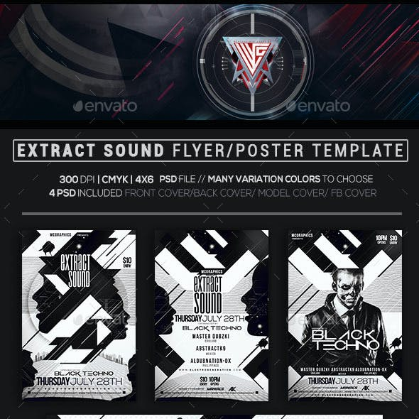 Extract Sound Flyer Template
