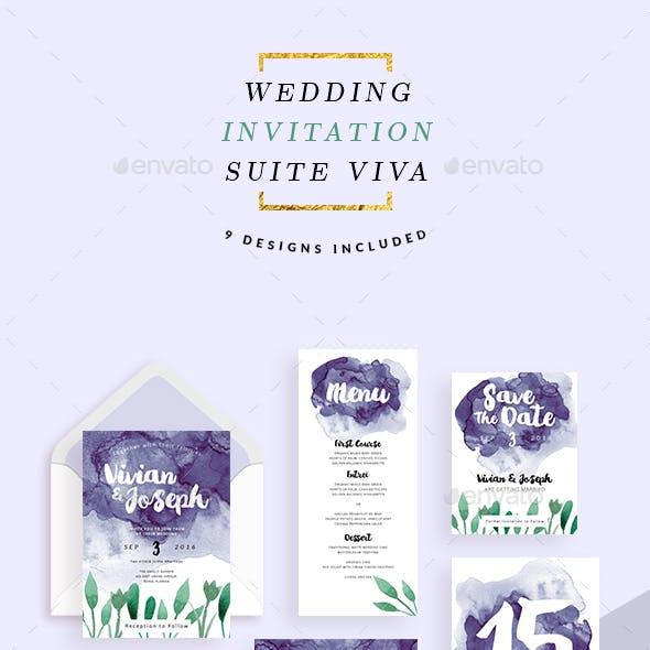 Wedding Invitation Suite - Viva