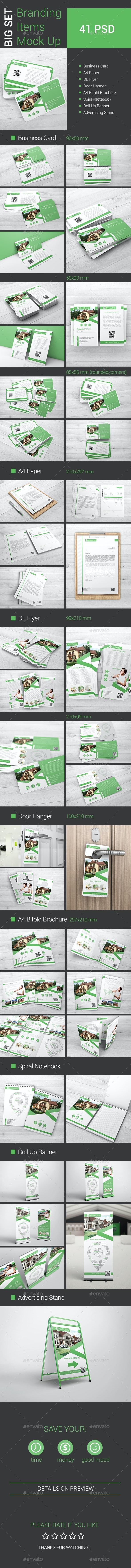 Branding Items Mock-Up - Print Product Mock-Ups