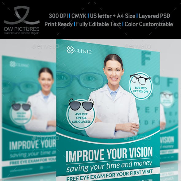 Optometrist & Optician Flyer Template Vol.2