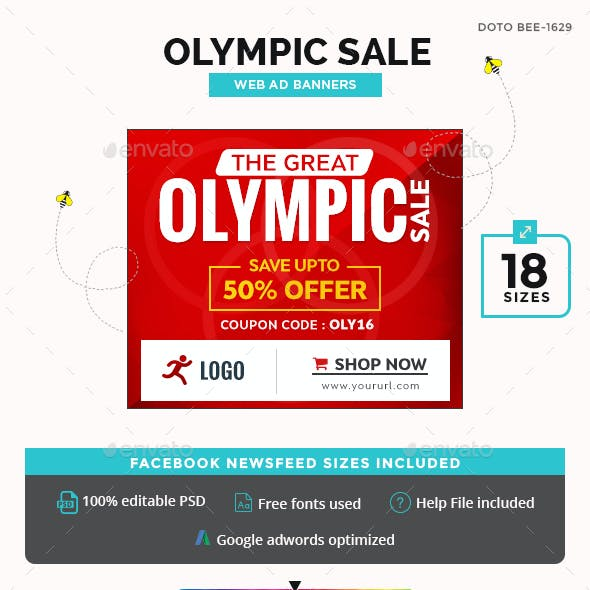 Olympic Sale Banners