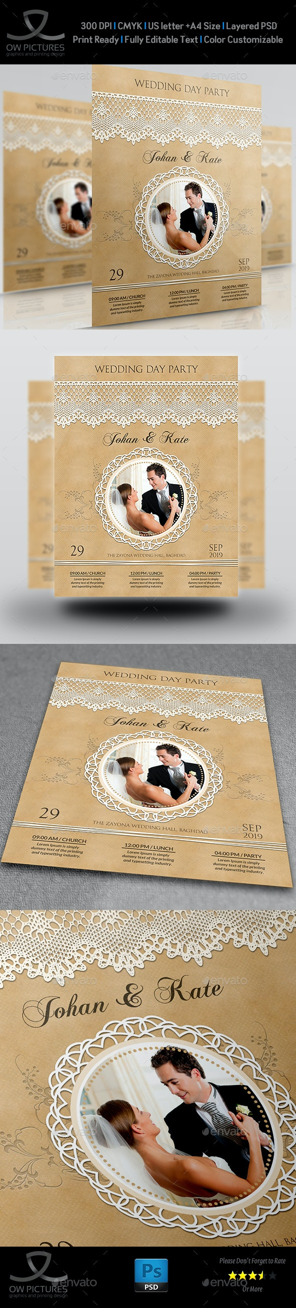 Wedding Party Flyer Template Vol.3 - Events Flyers