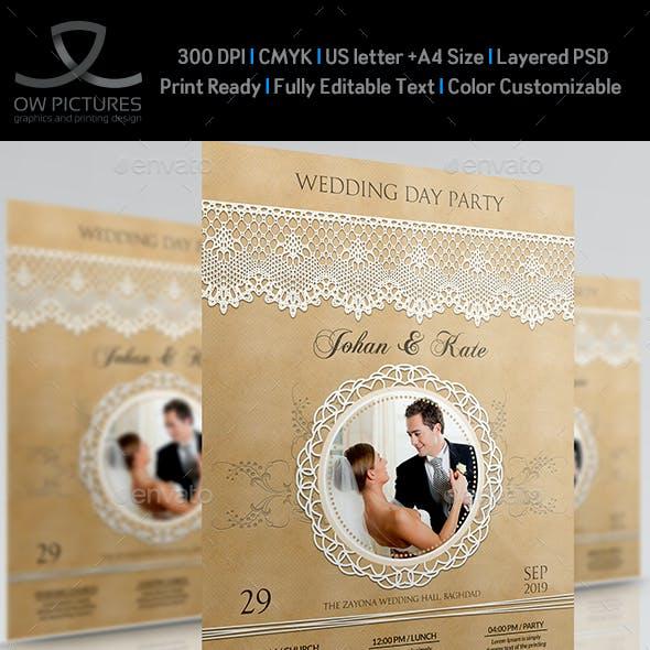 Wedding Party Flyer Template Vol.3