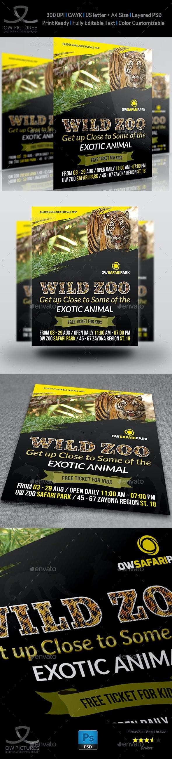 Zoo Flyer Template - Flyers Print Templates