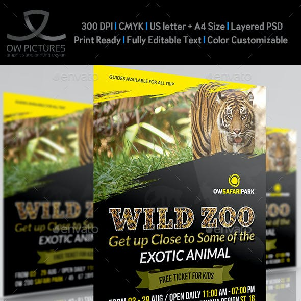 Zoo Flyer Template