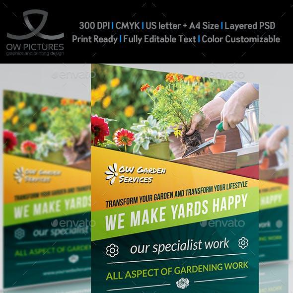Garden Services Flyer Template Vol.3