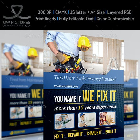 House Repair Flyer Template