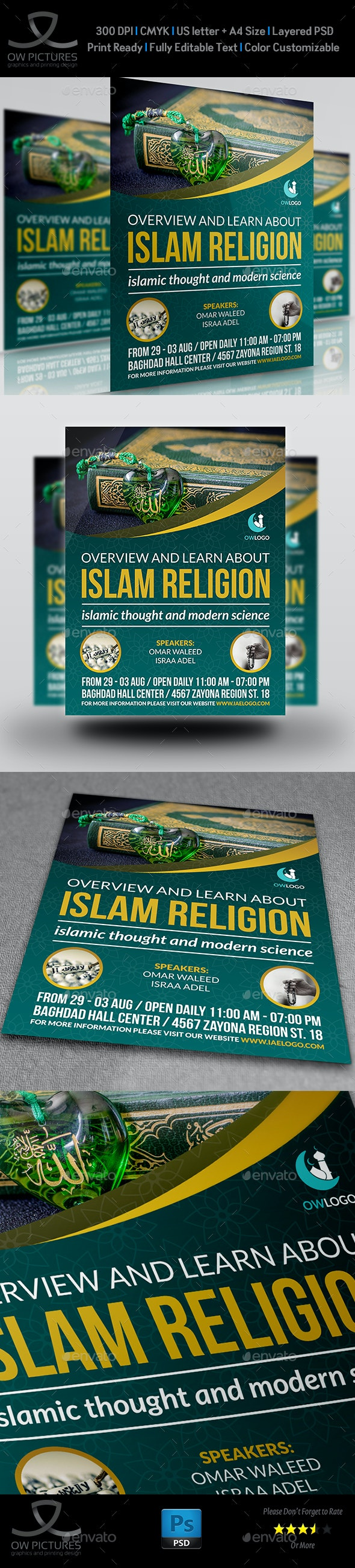 Islamic Flyer Template Vol.2 - Flyers Print Templates