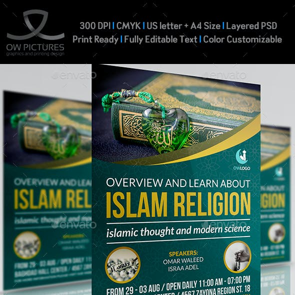 Islamic Flyer Template Vol.2