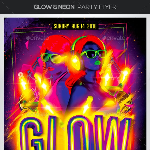 Glow & Neon Party Flyer