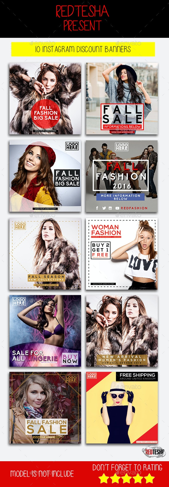 Instagram Fashion Banner #5 - Banners & Ads Web Elements