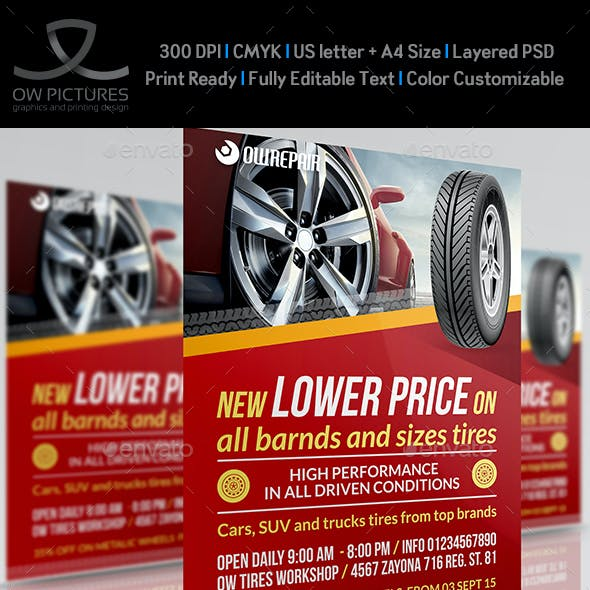 Tires Flyer Template