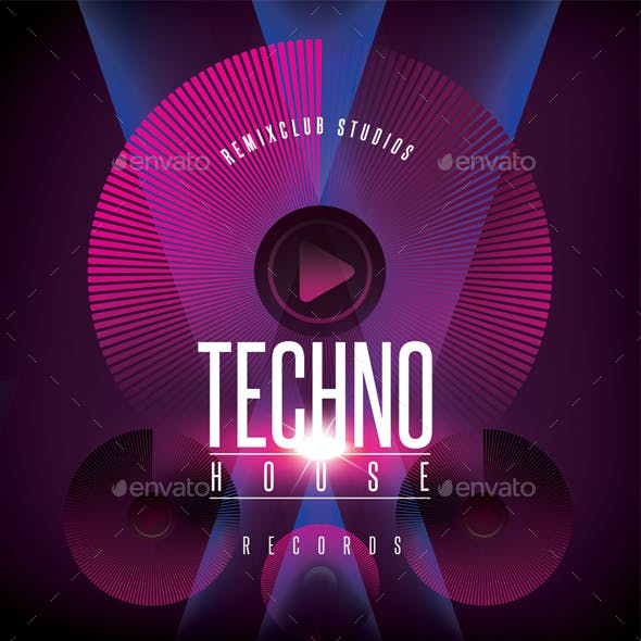 Techno House CD Cover Artwork