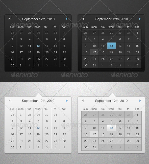 Calendar Widget - Miscellaneous Web Elements