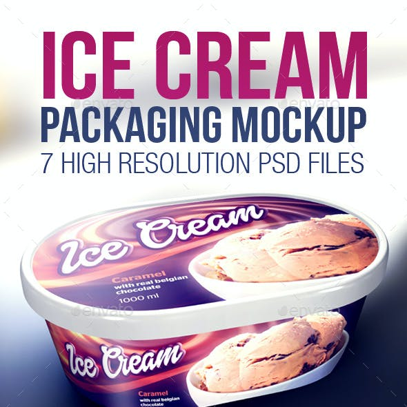 Ice Cream Packaging Mockup