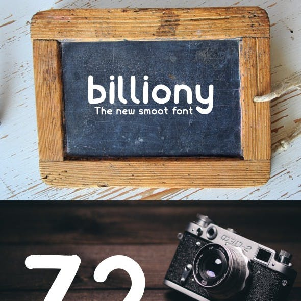 Billiony Typeface Font