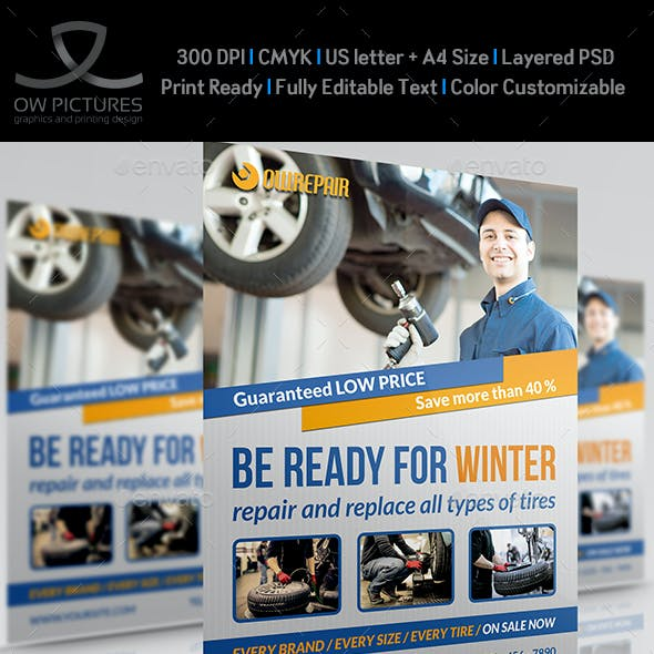 Tires Services Flyer Template
