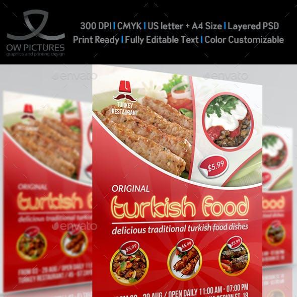 Turkish Restaurant Flyer Template