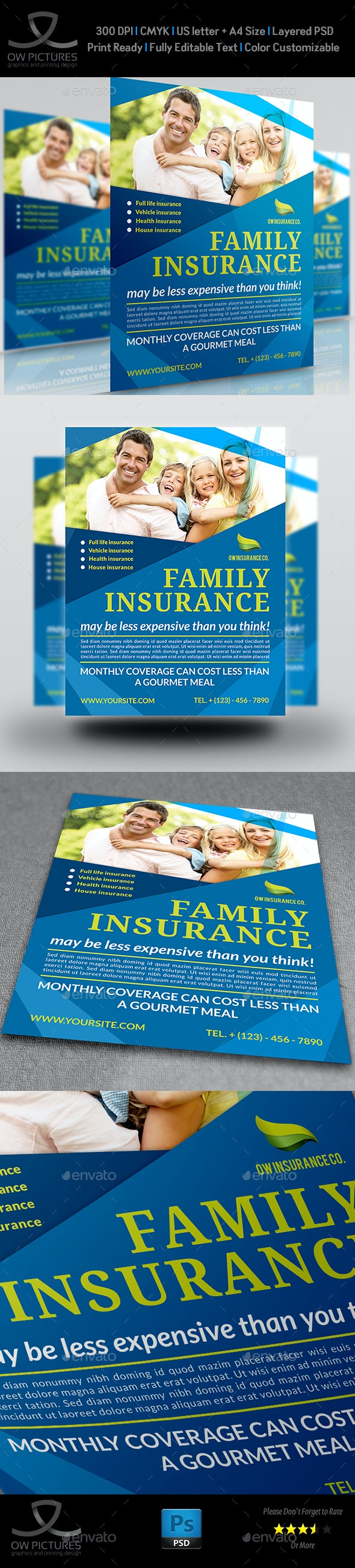 Insurance Flyer Template - Flyers Print Templates