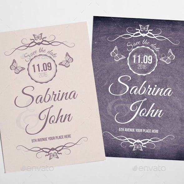 Simple and Elegant Save the Date