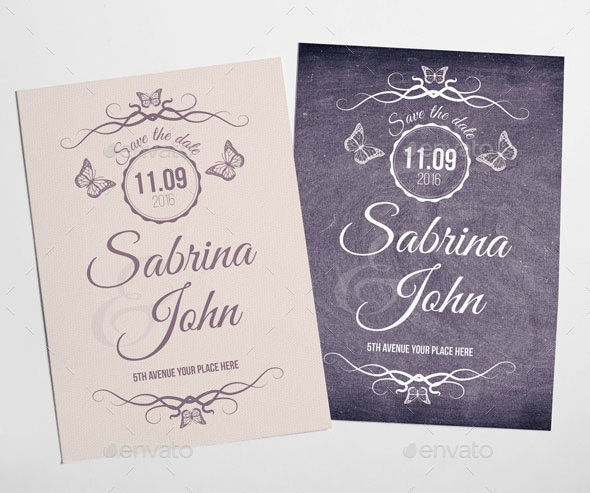 Simple and Elegant Save the Date - Weddings Cards & Invites