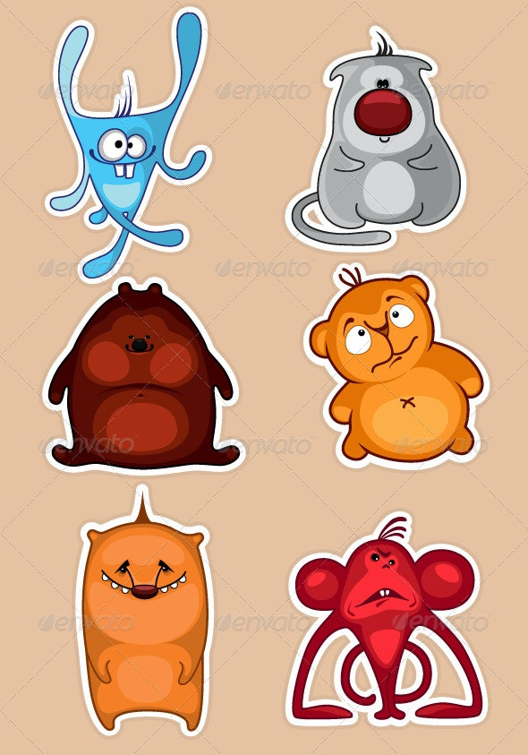Toy animals - Characters Vectors