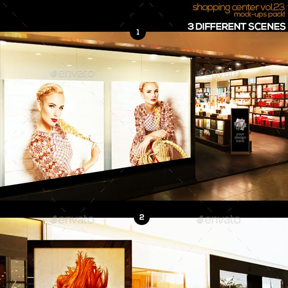 Shopping Center Vol.23 Mock Ups Pack