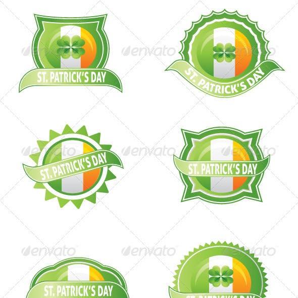 St. Patrick's Day Badge Set