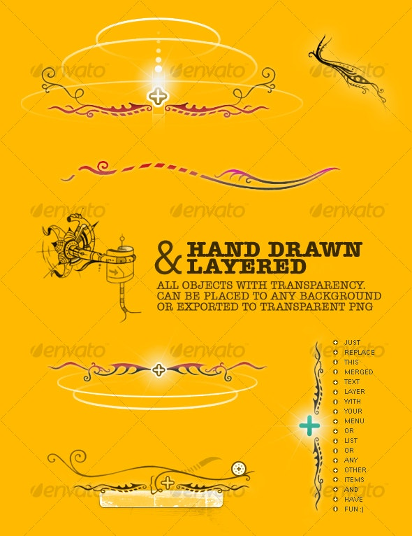 Hand Drawn Design Elements C - Decorative Graphics