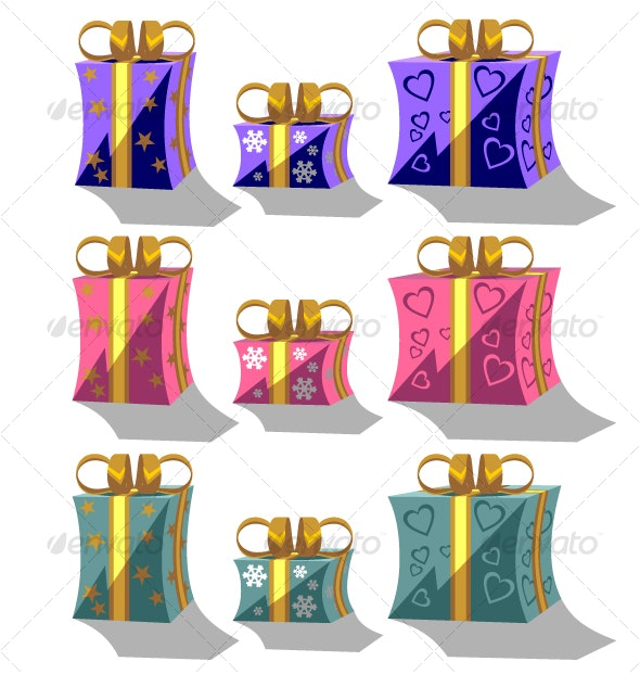 Holiday giftbox set in color 01 - Seasons/Holidays Conceptual