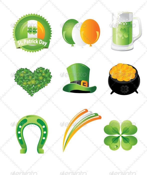 St. Patrick's Day Icon Set - Miscellaneous Seasons/Holidays