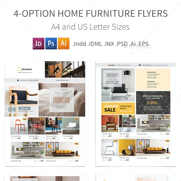 Home Furniture Flyers – 4 Options