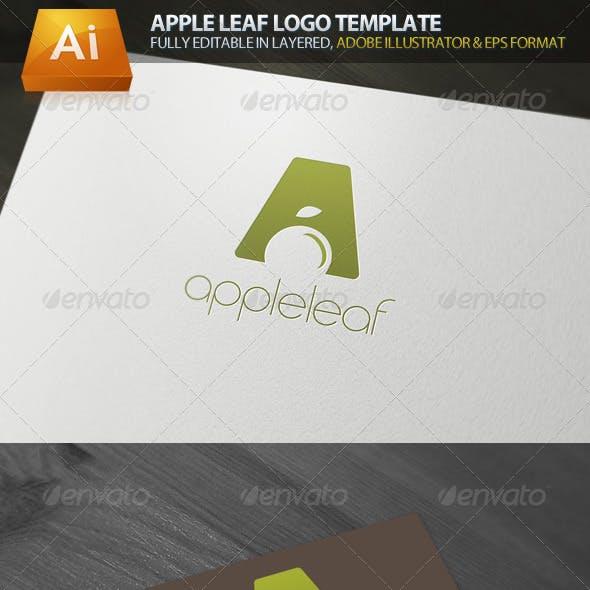 Apple Leaf Logo Template